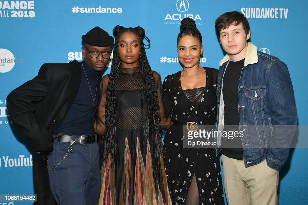 Actors Ashton Sanders KiKi Layne Sanaa Lathan and Nick Robinson attend the Native Son Premiere during the 2019 Sundance Film Festival at Eccles...