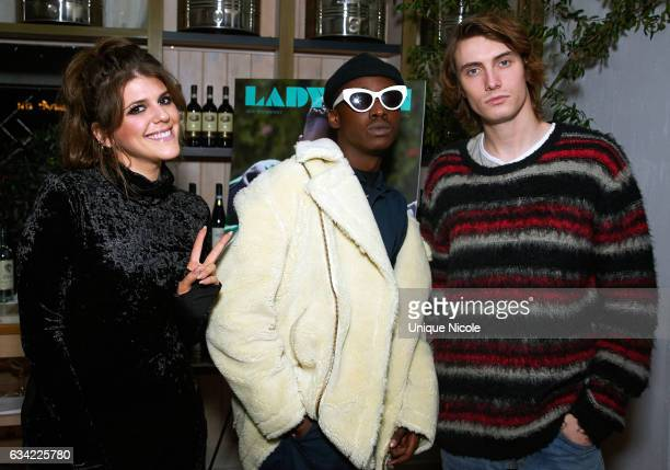 Actors Ashton Sanders, Molly Tarlov and James Paxton attend LADYGUNN Magazine Hosts Celebratory Dinner Hosted By Oscar-Nominated Actor Ashton Sanders...