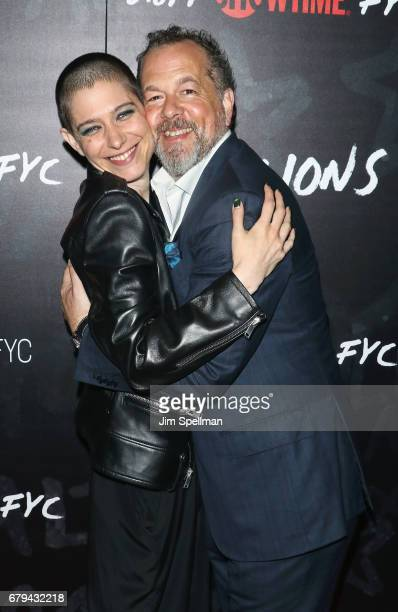 Actors Asia Kate Dillon and David Costabile attend Showtime's Billions For Your Consideration red carpet event at NYIT Auditorium on May 5 2017 in...