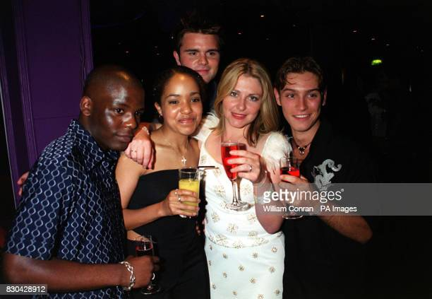Actors Asier Cebeira Rebecca Blake Chandra Ruegg Junior Laniyan and Royce Cronin who plays 'Declan Byrne' at Channel 5's Family Affairs celebrity...