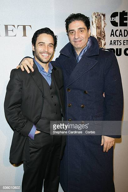 Actors Assaad Bouab and Simon Abkarian attend the Chaumet 'Revelations' exhibition party