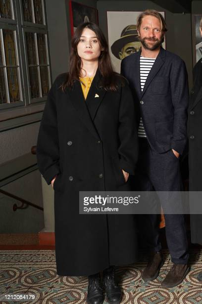 Actors Astrid BergesFrisbey and Luc Schiltz attend jury photocall of the 10th Luxembourg City Film Festival on March 12 2020 in Luxembourg Luxembourg