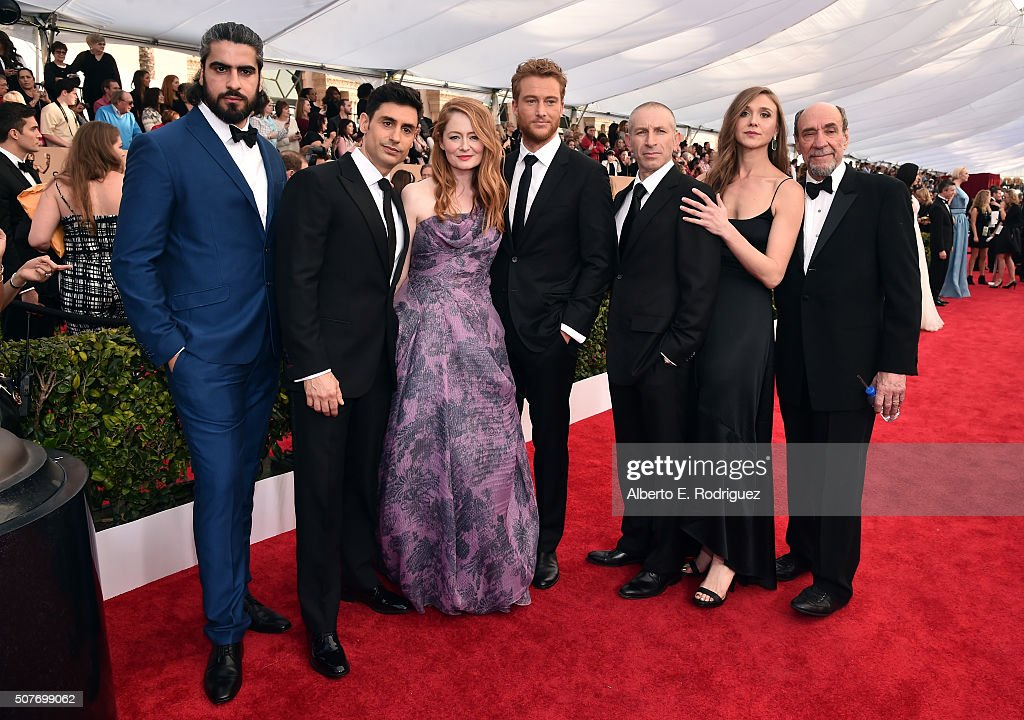 Actors Atheer Adel, René Ifrah, Miranda Otto, Alexander Fehling, Mark Ivanir, Sarah Sokolovic and F. Murray Abraham attend the 22nd Annual Screen Actors Guild Awards at The Shrine Auditorium on January 30, 2016 in Los Angeles, California.