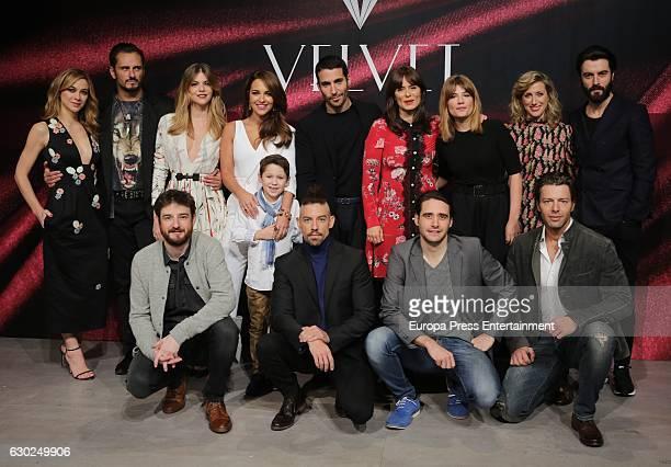Actors attend 'Galerias Velvet' Press Conference on December 19 2016 in Madrid Spain