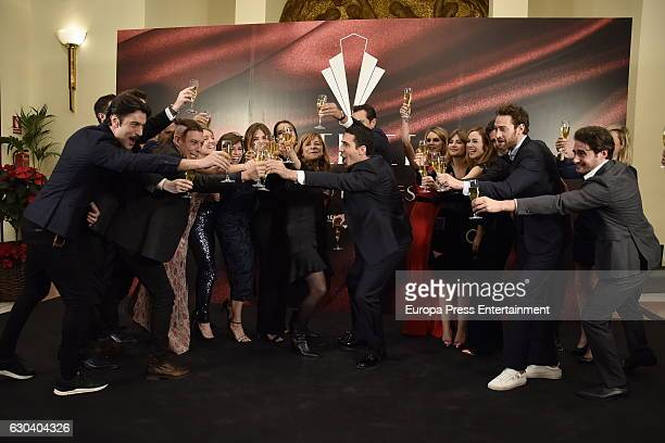 Actors attend the party for the series final of 'Galerias Velvet' at Continental hotel on December 21 2016 in Madrid Spain