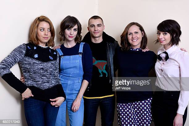 Actors Aubrey Plaza Alison Brie Dave Franco Molly Shannon and Kate Micucci from the film The Little Hours pose for a portrait in the WireImage...