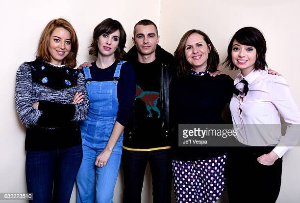 Actors Aubrey Plaza Alison Brie Dave Franco Molly Shannon and Kate Micucci from the film 'The Little Hours' pose for a portrait in the WireImage...