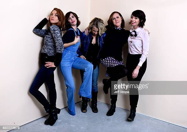 Actors Aubrey Plaza Alison Brie Lauren Weedman Molly Shannon and Kate Micucci from the film 'The Little Hours' pose for a portrait in the WireImage...