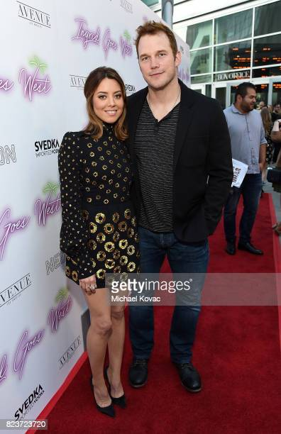 "Actors Aubrey Plaza and Chris Pratt attend the Los Angeles Premiere of ""Ingrid Goes West"" presented by SVEDKA Vodka and Avenue Los Angeles at..."