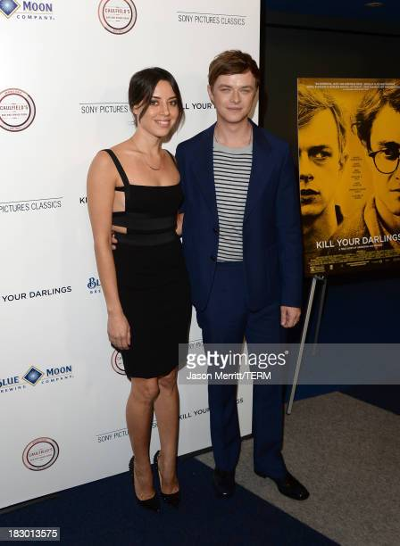 Actors Aubrey Plaza and Dane DeHaan arrive at the premiere of Sony Pictures Classics' Kill Your Darlings at Writers Guild Theater on October 3 2013...