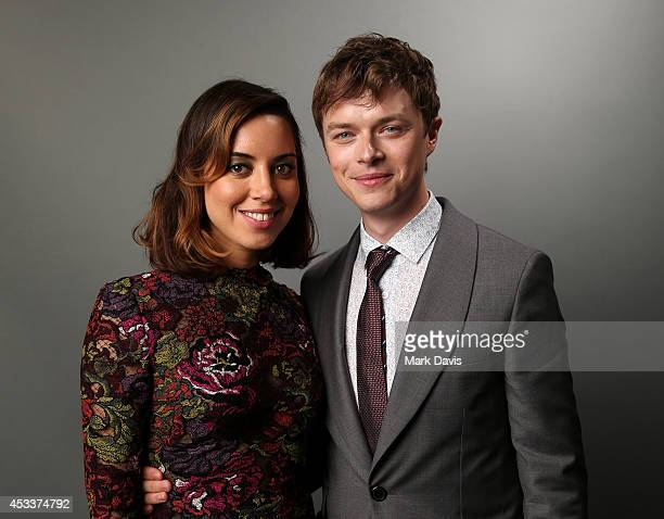 Actors Aubrey Plaza and Dane DeHaan pose for a portrait during Sundance NEXT FEST at The Theatre at Ace Hotel on August 8 2014 in Los Angeles...