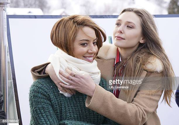 Actors Aubrey Plaza and Elizabeth Olsen attends panel discussion for 'Ingrid Goes West' on January 20 2017 in Park City Utah
