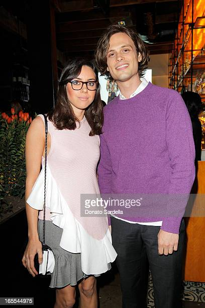 Actors Aubrey Plaza and Matthew Gray Gubler attend Vogue's Triple Threats dinner hosted by Sally Singer and Lisa Love at Goldie's on April 3 2013 in...
