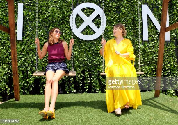 Actors Aubrey Plaza and Rachel Keller of 'Legion' attend FX Networks' FXHibition during 2017 San Diego Comic Con at Hilton Bayfront on July 21 2017...
