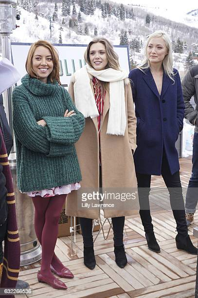Actors Aubrey Plaza Elizabeth Olsen and Pom Klementieff attend panel discussion for Ingrid Goes West on January 20 2017 in Park City Utah