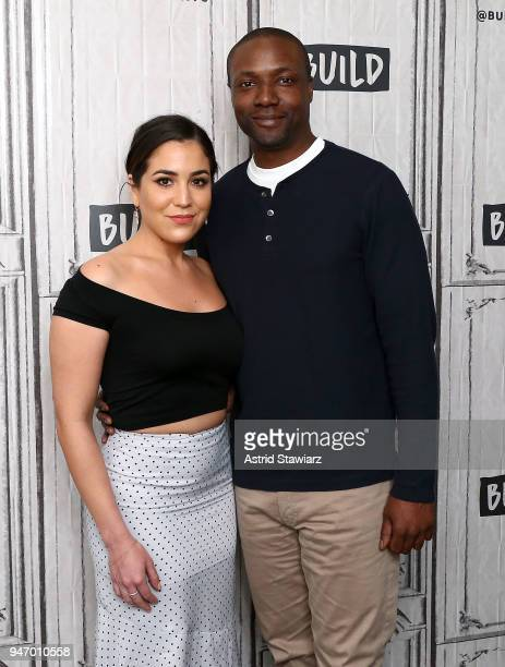 Actors Audrey Esparza and Rob Brown discuss the NBC drama Blindspot at Build Studio on April 16 2018 in New York City