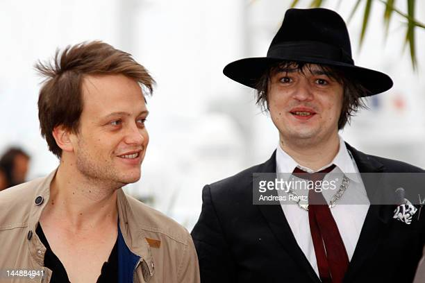 Actors August Diehl and Pete Doherty attend the Confession Of A Child Photo Call during the 65th Annual Cannes Film Festival on May 20 2012 in Cannes...