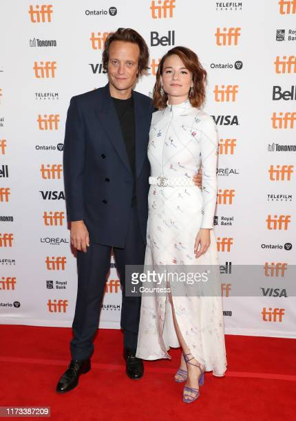 Actors August Diehl and Valerie Pachner attend the premiere of A Hidden Life during the 2019 Toronto International Film Festival at The Elgin on...