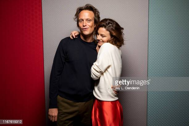 Actors August Diehl and Valerie Pachner from 'A Hidden Life' are photographed for Los Angeles Times on September 8 2019 at the Toronto International...