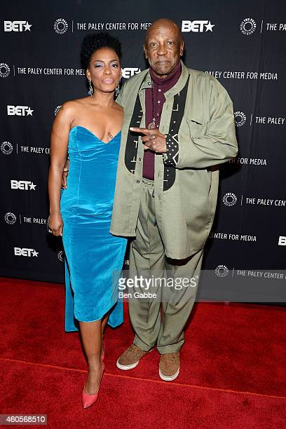 Actors Aunjanue Ellis and Louis Gossett Jr attend The Book Of Negroes Screening at The Paley Center for Media on December 16 2014 in New York City