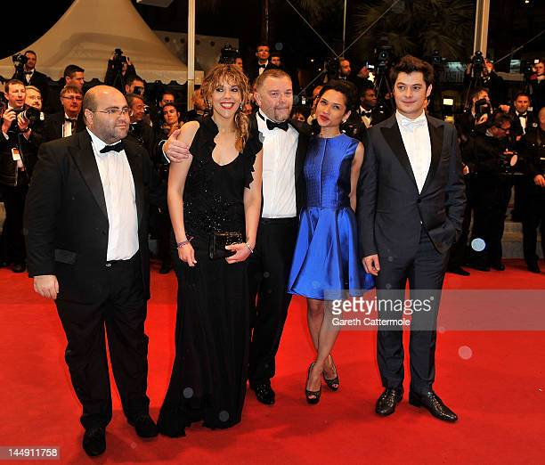 Actors Aurelien Wiik and Alysson Paradis attends the 'Jagten' Premiere during the 65th Annual Cannes Film Festival at Palais des Festivals on May 20...
