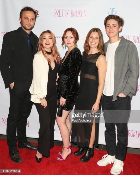 Actors Austin Hillebrecht Cosondra Sjostrom Jillian Clare Maya Butler and Preston Bailey attends the premiere of Pretty Broken at the Laemmle NoHo 7...