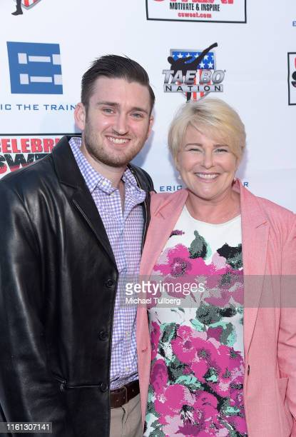 Actors Austin Luciano and Judi Evans attend an ESPYS's after party by Celebrity Sweat benefiting Benefit Midnight Mission at The Palm Restaurant on...