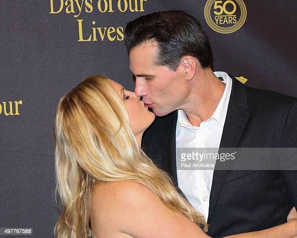 "Actors Austin Peck and Terri Conn attends the ""Days Of Our Lives"" 50th Anniversary at the Hollywood Palladium on November 7, 2015 in Los Angeles,..."