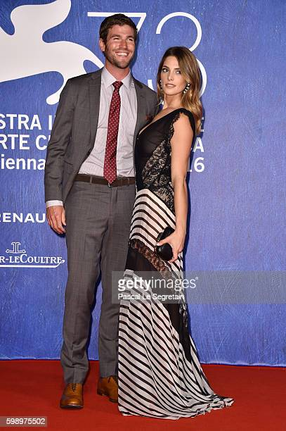 Actors Austin Stowell and Ashley Greene attend the premiere of 'In Dubious Battle' during the 73rd Venice Film Festival at Sala Giardino on September...