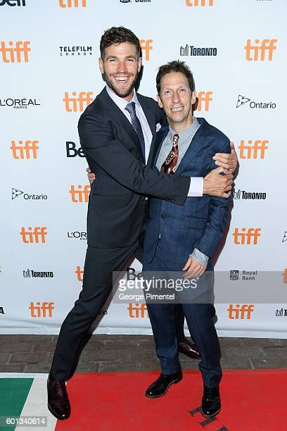 Actors Austin Stowell and Tim Blake Nelson attend the Colossal premiere during the 2016 Toronto International Film Festival at Ryerson Theatre on...