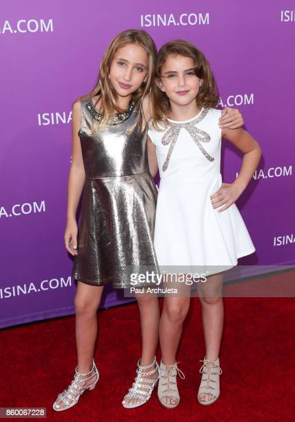 Actors Ava Kolker and Lexy Kolker attend the ISINA Global Gala at Unici Casa on October 10 2017 in Culver City California