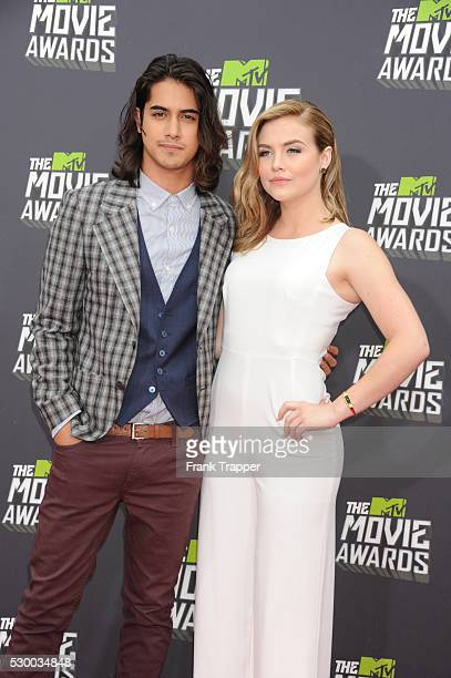 Actors Avan Gogia and Maddie Hasson arrives at the 2013 MTV Movie Awards held at Sony Pictures Studios in Culver City