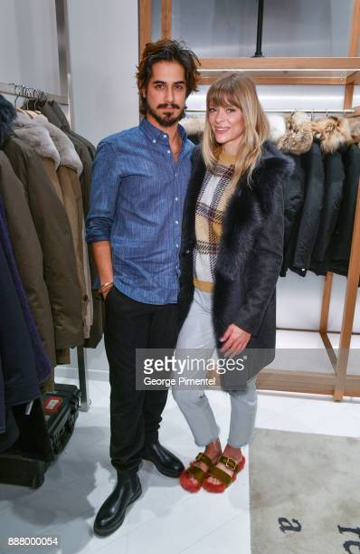 Actors Avan Jogia and Jaime King attend Woolrich Yorkdale Grand Opening at Yorkdale Shopping Center on December 7 2017 in Toronto Canada