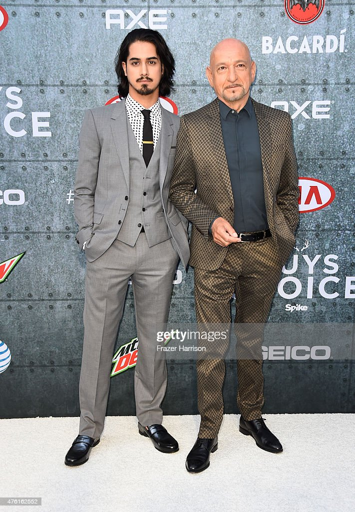 Actors Avan Jogia (L) and Sir Ben Kingsley attend Spike TV's Guys Choice 2015 at Sony Pictures Studios on June 6, 2015 in Culver City, California.