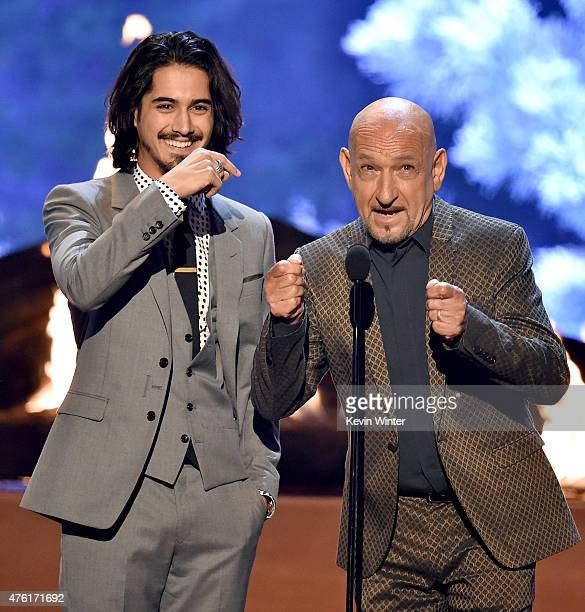 Actors Avan Jogia and Sir Ben Kingsley speak onstage during Spike TV's Guys Choice 2015 at Sony Pictures Studios on June 6 2015 in Culver City...