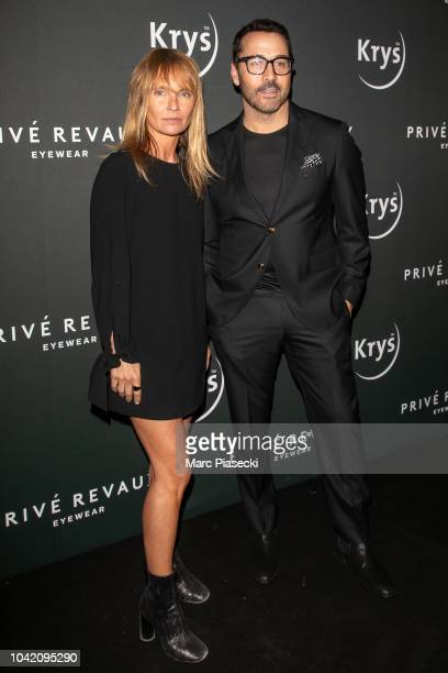 Actors Axelle Laffont and Jeremy Piven attend the Prive Revaux Eyewear Photocall at Cafe de l'Homme as part of the Paris Fashion Week Womenswear...