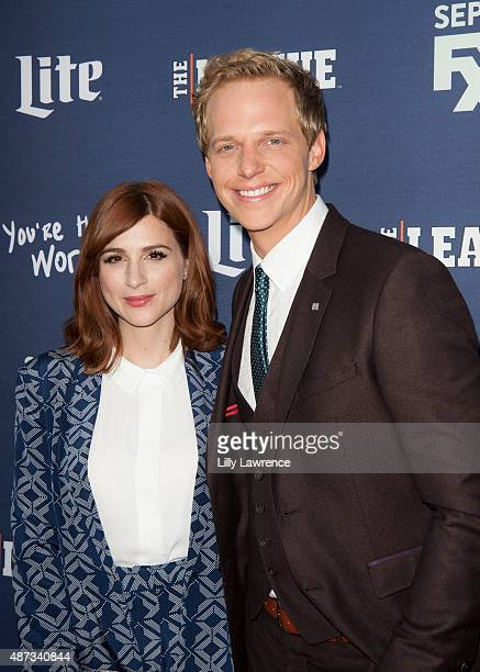 """Actors Aya Cash and Chris Geere attend the premiere of FXX's """"The League"""" Final Season and """"You're The Worst"""" 2nd Season at Regency Bruin Theater on..."""