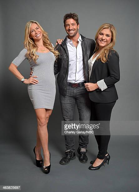 Actors Aylin Mujica David Chocarro and Lorena Garcia attend the 2014 NBCUniversal TCA Winter Press Tour Portraits at Langham Hotel on January 19 2014...