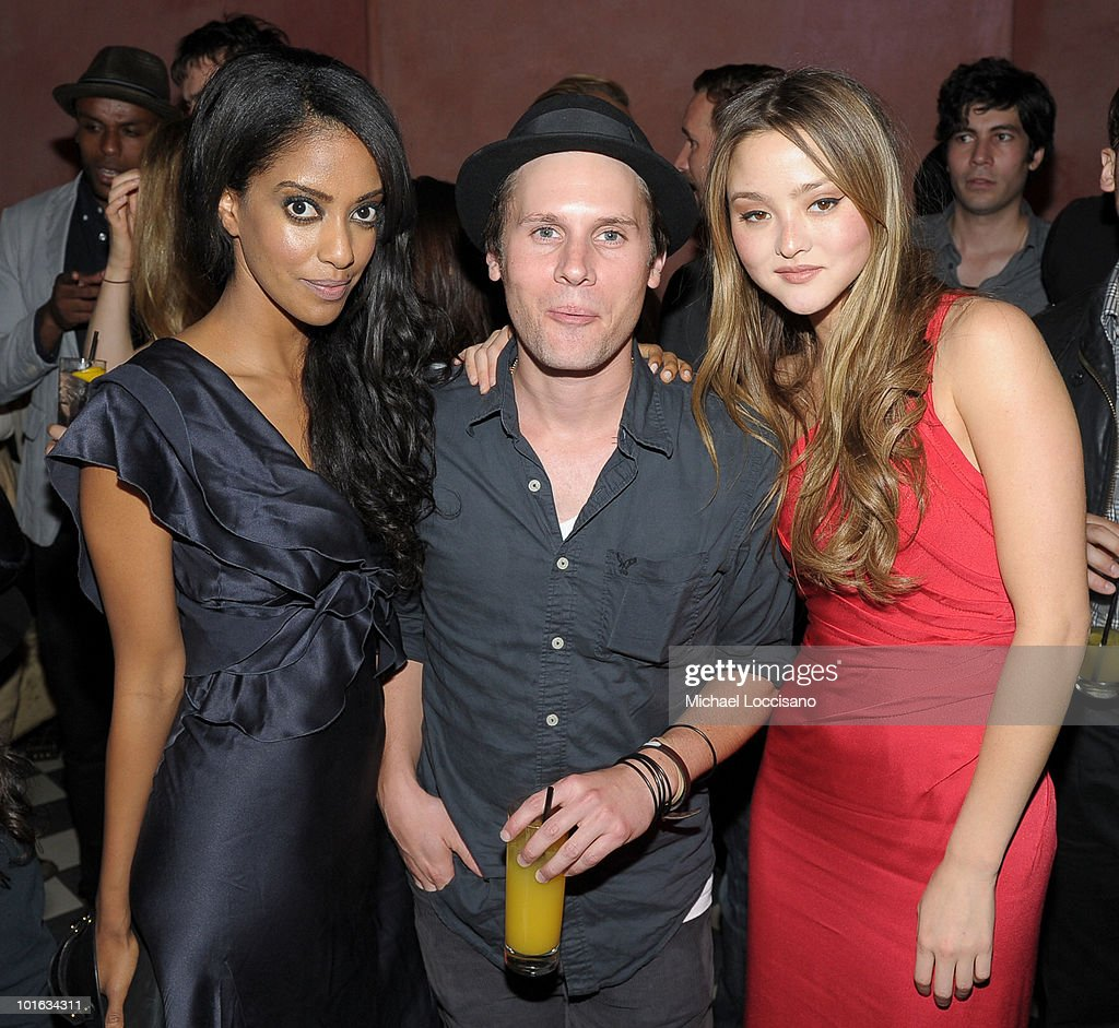 Actors Azie Tesfai, Kris Lemche and Devon Aoki attend the after party for the premiere of 'Rosencrantz and Guildenstern Are Undead' at Village East Cinema on June 4, 2010 in New York City.