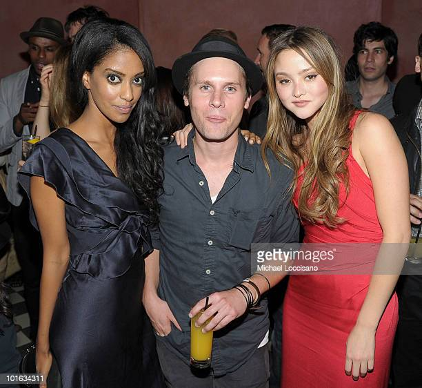 Actors Azie Tesfai Kris Lemche and Devon Aoki attend the after party for the premiere of Rosencrantz and Guildenstern Are Undead at Village East...