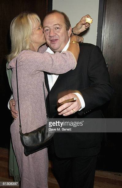 Actors Babs Powell and Mel Smith attend the charity gala performance celebrity auction for Best Of The Empire at the Hackney Empire on September 14...