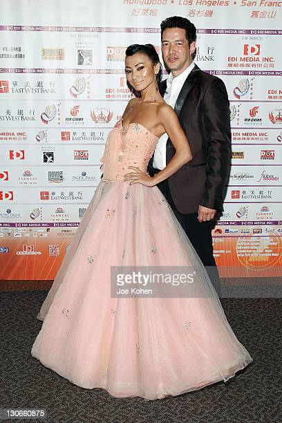 Actors Bai Ling and Russell Wong attend the 'Snow Flower And The Secret Fan' DVD And BluRay Launch at DGA Theater on October 27 2011 in Los Angeles...