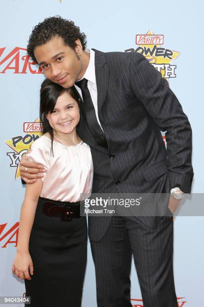 Actors Bailee Madison and Corbin Bleu arrive to Variety's 3rd Annual Power of Youth event held at the Paramount Studios backlot on December 5 2009 in...