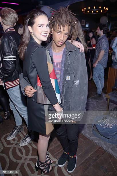 Actors Bailee Madison and Jaden Smith attend NYLON Young Hollywood Party presented by BCBGeneration at HYDE Sunset Kitchen Cocktails on May 12 2016...