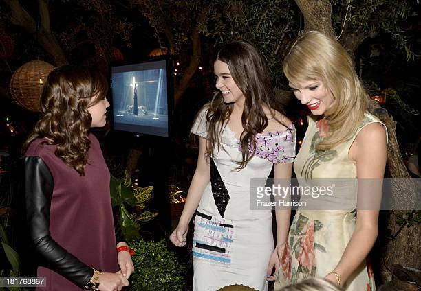 Actors Bailee Madison Hailee Steinfeld and singer Taylor Swift attend the premiere of Relativity Media's Romeo And Juliet after party at Soho House...