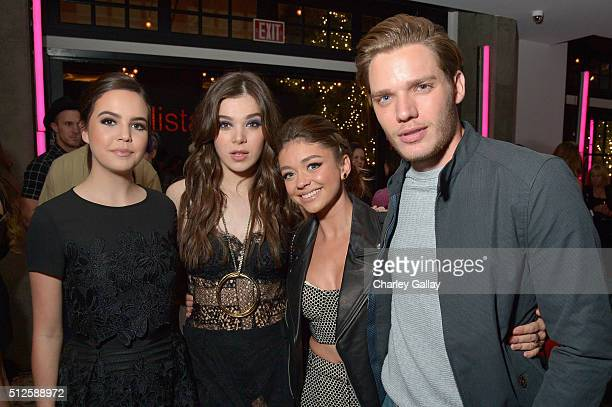 Actors Bailee Madison Hailee Steinfeld Sarah Hyland and Dominic Sherwood attend a DJ night hosted by Vanity Fair L'Oreal Paris Hailee Steinfeld at...