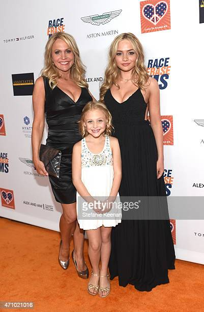 Actors Barbara Alyn Woods Alyvia Alyn Lind and Natalie Alyn Lind attend the 22nd Annual Race To Erase MS Event at the Hyatt Regency Century Plaza on...