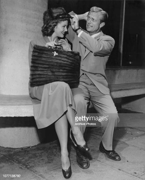 Actors Barbara Britton and Richard Denning who play Jerry and Pamela North in the television series 'Mr Mrs North' circa 1952 She has been given a...