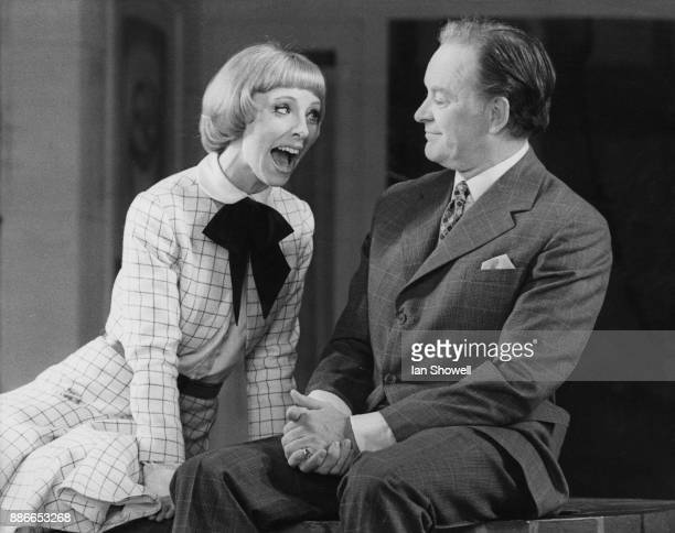 Actors Barbara Brown and Tony Britton during a photocall at the Drury Lane Theatre in London for the new 1925 musical 'No No Nanette' 10th May 1973...