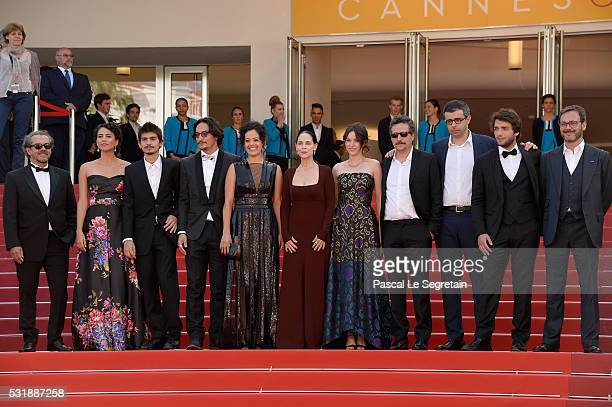 Actors Barbara Colen guests Maeve Jinkings Sonia Braga producer Emilie Lesclaux director Kleber Mendonca Filho producer Saïd Ben Saïd actor Humberto...